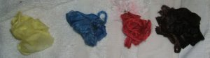 Dyed samples