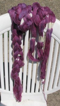 ikat sock yarn