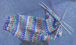 Unfinished sock