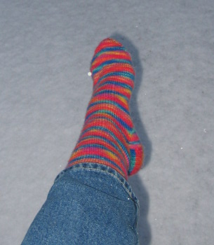 Stripy sock