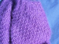 Purple sock closeup