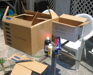 Solar oven boxes