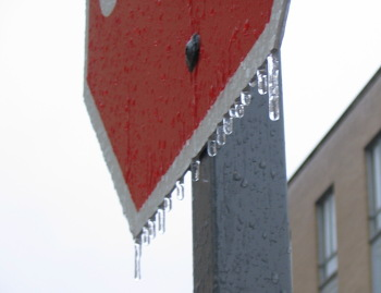 Icy stopsign