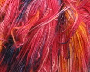 dyed sock yarn