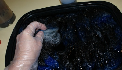 Dyeing sock yarn
