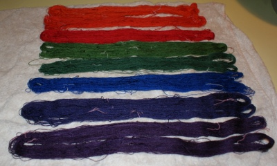 Dyed skeins